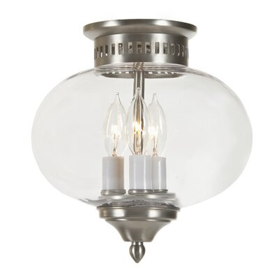 Classic Onions 3-Light Medium Flush Mount Finish: Pewter