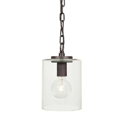 Jupiter 1-Light Cylindrical Drum Pendant Finish: Oil Rubbed Bronze
