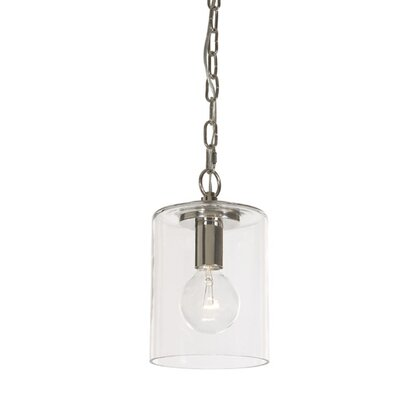 Jupiter 1-Light Cylindrical Drum Pendant Finish: Polished Nickel