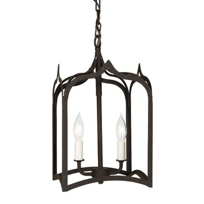 Gothic 2-Light Small Foyer Pendant Finish: Matte black