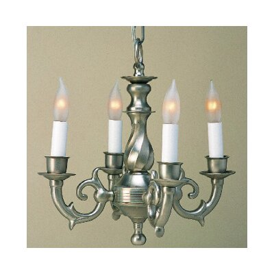 4-Light Candle-Style Chandelier Finish: Pewter