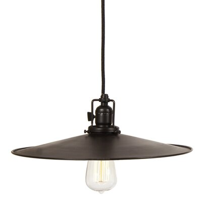 Edgar Contemporary 1-Light Metal Mini Pendant Finish: Oil Rubbed Bronze