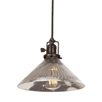 Edgar 1-Light Antique Mercury Glass Mini Pendant Finish: Oil Rubbed Bronze