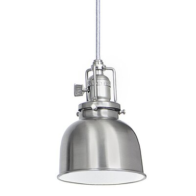 Edgar 1-Light Bowl Metal Mini Pendant Finish: Pewter