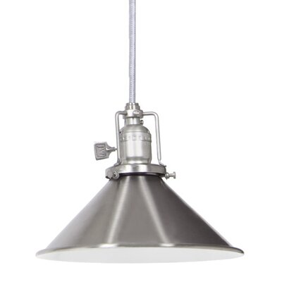 Edgar Contemporary 1-Light Cone Metal Mini Pendant Finish: Pewter