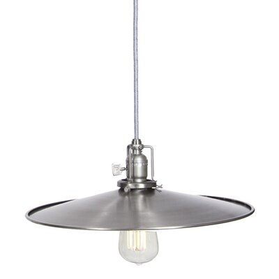 Edgar 1-Light Cone Metal Mini Pendant Finish: Pewter