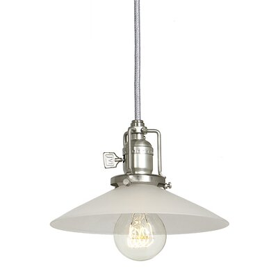 Edgar 1-Light Frosted Shade Mini Pendant Finish: Pewter