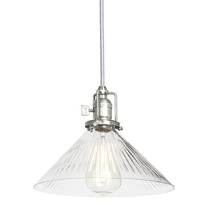 Edgar 1-Light Mouth Blown Glass Mini Pendant Finish: Pewter