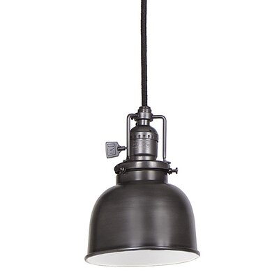 Edgar 1-Light Black Metal Mini Pendant Finish: Gun Metal