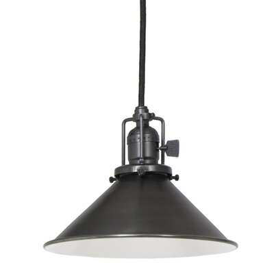 Edgar Contemporary 1-Light Cone Metal Mini Pendant Finish: Gun Metal