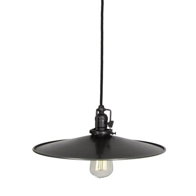 Edgar 1-Light Cone Metal Mini Pendant Finish: Gun Metal