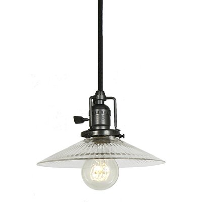 Edgar 1-Light Cone Clear Glass Mini Pendant Finish: Gun Metal