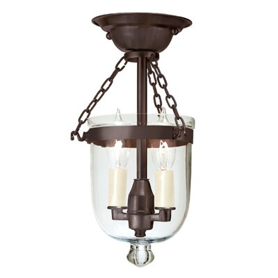 2-Light Tiny Semi Flush Mount Finish: Oil Rubbed Bronze
