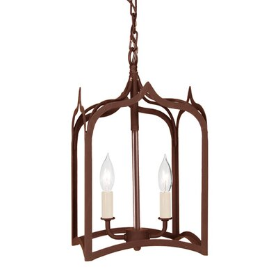 Gothic 2-Light Small Foyer Pendant Finish: Rust