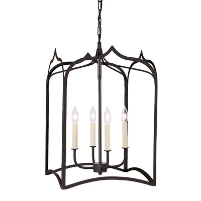 Gothic 4-Light Large Foyer Pendant Finish: Matte black