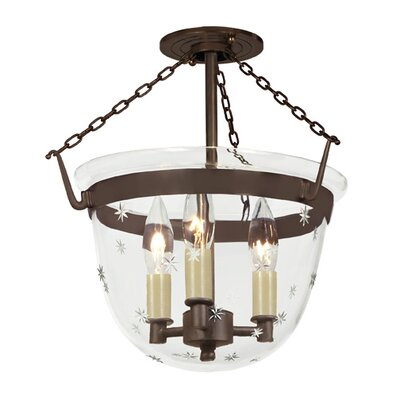 3-Light Small Bell Foyer Pendant Finish: Oil Rubbed Bronze