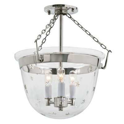 3-Light Small Bell Foyer Pendant Finish: Polished Nickel