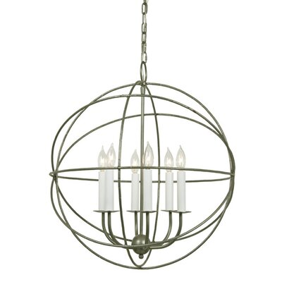 Globe 6-Light Globe Pendant Finish: Aged Silver