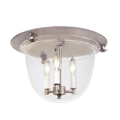 3-Light Bell Flush Mount Finish: Pewter