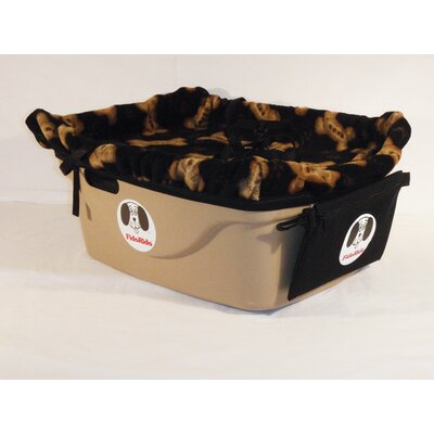 FidoRido 1 Seater Dog Car Seat - Finish: Tan, Harness Size: Medium