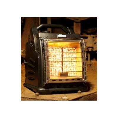 Shinerich The Boss Portable 20,000 BTU Infrared Compact Propane Space Heater - Finish: Black at Sears.com