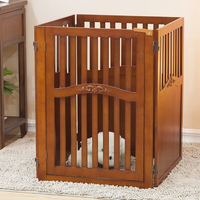 Lily 4 Panel Convertible Dog Gate with One Walk Through Panel Size: Large