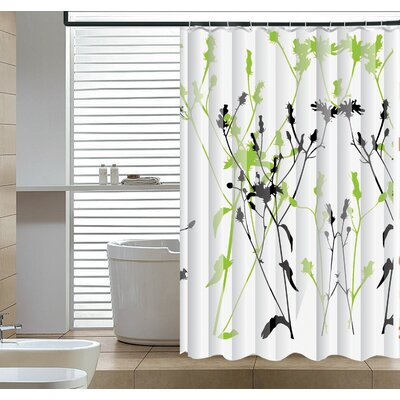 Eleglantly Floral Abstract Shower Curtain