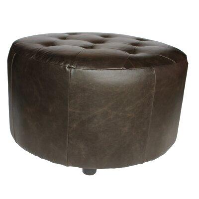 Arlington Leather Ottoman Upholstery: Dark Brown