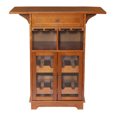 Peoria 8 Bottle Floor Wine Cabinet