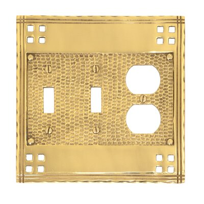 Arts and Crafts Triple Combo (Set of 2) Finish: Antique Brass