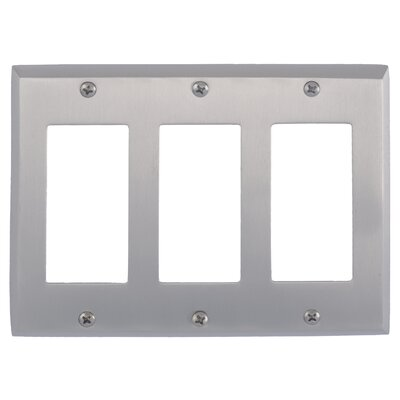 Quaker Triple GFCI Plate Finish: Satin Nickel