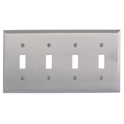 Quaker Quad Switch Plate Finish: Satin Nickel