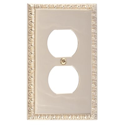 Egg and Dart Single Outlet Plate Finish: Polished Brass