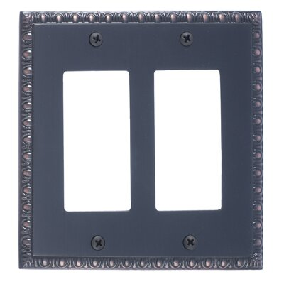 Egg and Dart Double GFCI Plate Finish: Venetian Bronze