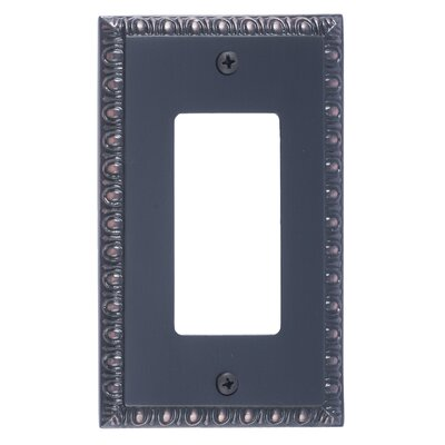 Egg and Dart Single GFCI Plate Finish: Venetian Bronze