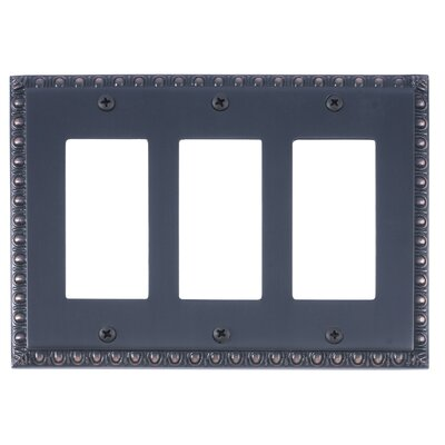 Egg and Dart Triple GFCI Light Switch or Socket Plate Finish: Venetian Bronze