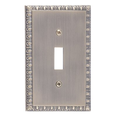 Egg and Dart Single Switch Plate Finish: Antique Brass