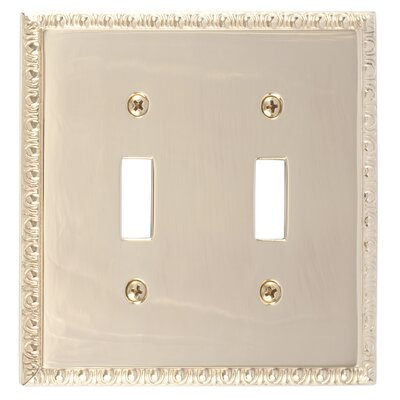 Egg and Dart Double Switch Plate Finish: Polished Brass