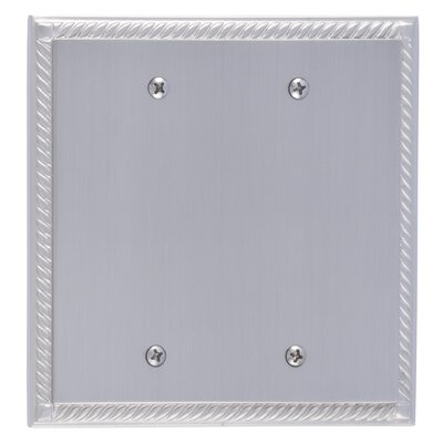Georgian Double Blank Plate Finish: Satin Nickel