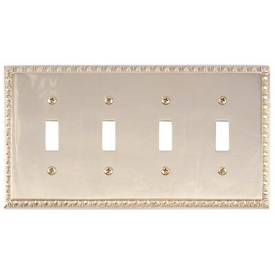 Egg and Dart Quad Switch Plate Finish: Polished Brass