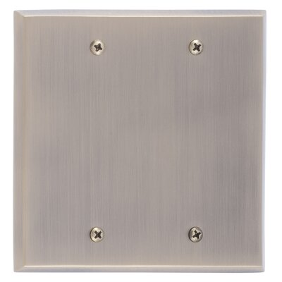 Quaker Double Blank Plate Finish: Antique Brass