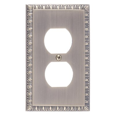 Egg and Dart Single Outlet Plate Finish: Antique Brass