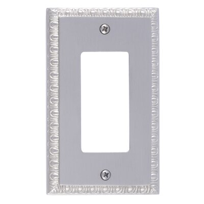 Egg and Dart Single GFCI Plate Finish: Satin Nickel