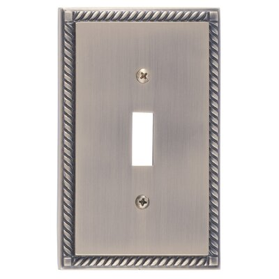Georgian Single Switch Plate Finish: Antique Brass