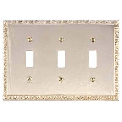 Egg and Dart Triple Switch Plate Finish: Polished Brass