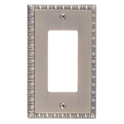 Egg and Dart Single GFCI Plate Finish: Antique Brass