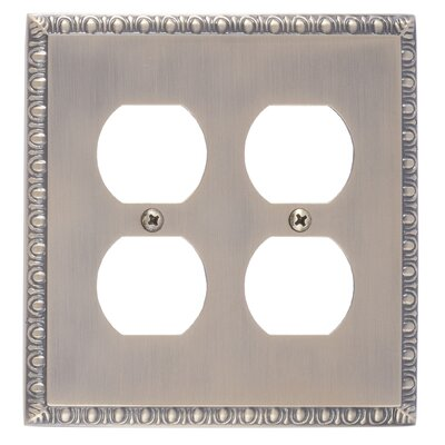 Egg and Dart Double Outlet Plate Finish: Antique Brass