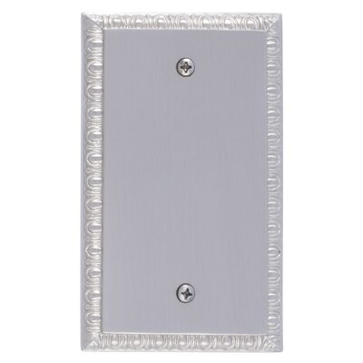Egg and Dart Single Blank Plate Finish: Satin Nickel