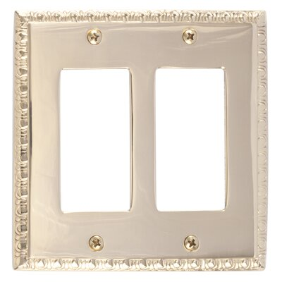 Egg and Dart Double GFCI Plate Finish: Polished Brass