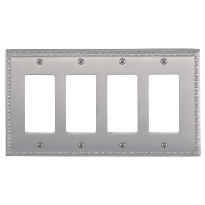 Egg and Dart Quad GFCI Plate Finish: Satin Nickel